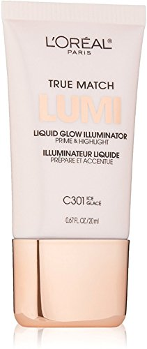 L'Oreal Paris True Match Lumi Liquid Glow Illuminator, Ice [C301] 0.67 oz (Pack of 2)