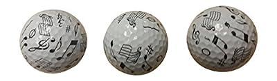 Music Golf Balls (3 Pack)