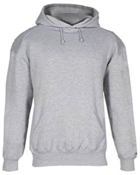 Badger Sport Youth Hooded Sweatshirt 2254 Oxford Medium by Badger