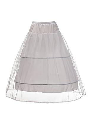 Remedios 2 Hoop Wedding Half Slip A Line Bridal Petticoat Underskirt S-XL