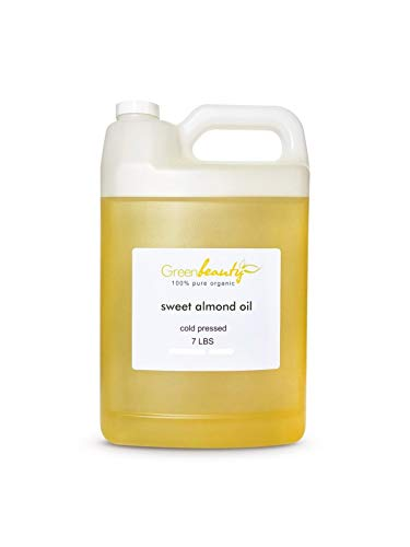 - SWEET ALMOND OIL ORGANIC CARRIER COLD PRESSED REFINED 100% PURE 1 GALLON/7 LBS