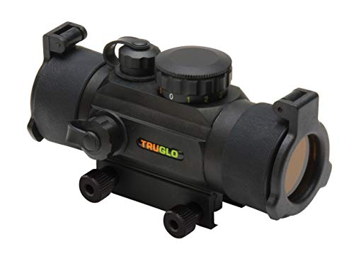 TRUGLO Red-Dot 30mm Dual Color Sight Black (Truglo Tru Brite Open Red Dot Sight)