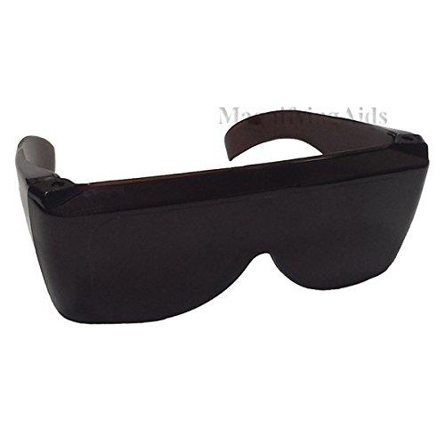 Noir Glasses - NoIR Sunglasses Dark Amber Fitover with Side Shields