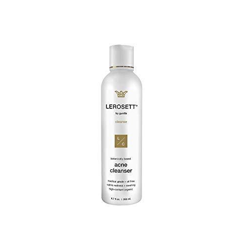 LEROSETT® Botanical Acne Cleanser Medicated | Organic Salicylic Acid (Best Medicated Face Wash For Acne)