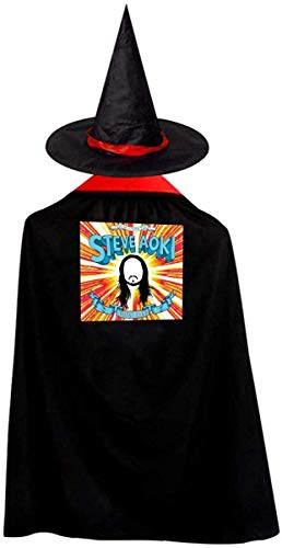 Steve Aoki Halloween (Steve Aoki Christmas Halloween Child Wizard Witch Cloak Cloak and Hat)