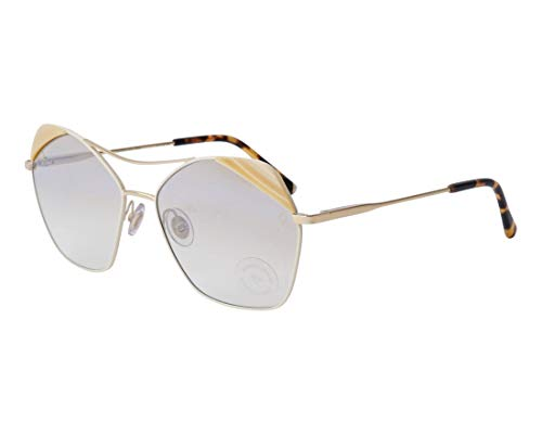 - Etnia Barcelona sunglasses (KALAHA BEGD) Gold - Marble Opal - Brown grey black Gradient with Mirror effect lenses