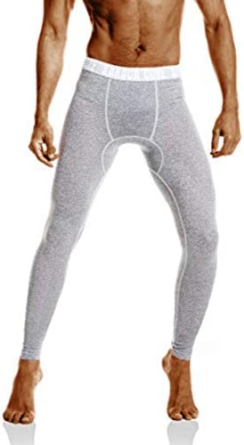 saraca core Men's Compression Pants Running Tights Athletic Leggings Cool Dry Baselayer Gray: Amazon.com.au: Fashion