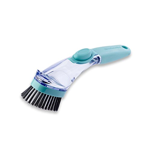 Kitchenaid Soap Dispensing Sink Brush, Aqua Sky