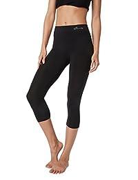 Boody EcoWear Women's 3/4 Legging, Black, X-Small