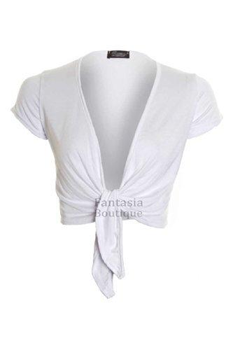 FANTASIA L'avant Cardigan 8 Sur Attache BOUTIQUE Enveloppant Mancheron Blanc Femmes Bolero Couleur Haut 14 Pour Femmes pwIrp8WOq