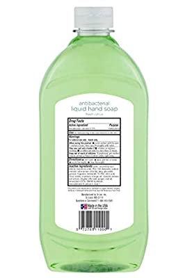 Mountain Falls Antibacterial Liquid Hand Soap Refill Bottle, Fresh Citrus, Compare to Softsoap, 40 Fluid Ounce (Pack of 4)