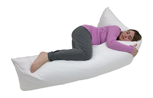 Best Review Of Oversized Body Pillow/Pregnancy Maternity Pillow, 20 x 90 inch - w/ Zippered Cover - ...