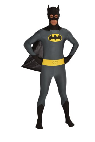 Rubie's Costume Men's Dc Comics Superhero Style Batman Body Suit, Multicolor, Large (Best Superhero Costumes)