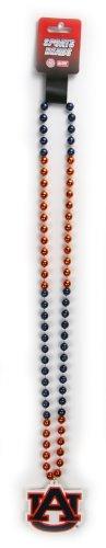NCAA Auburn Tigers Team Logo Mardi Gras Style Beads (Ncaa Spirit Necklace)