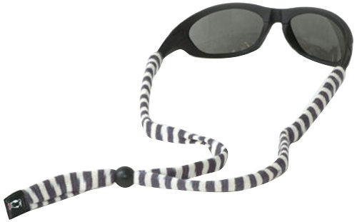 Chums Original Cotton Standard End Eyewear Retainer, Gray/White - Mens Striped Sunglasses