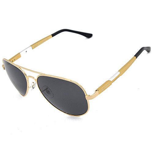 VEITHDIA V6695 Classic Polarized Aviator Sunglasses 100% UV Protection (Golden, - Sale On Sunglasses Designer