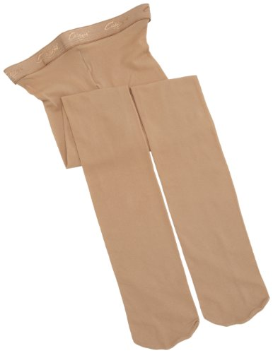 Capezio Big Girls' Hold & Stretch Footed Tight,Caramel,M (8-10) (Child Tights)
