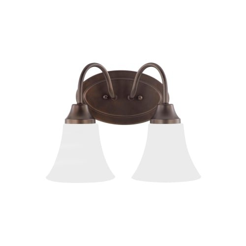Sea Gull Lighting 44806EN3-827 Holman Vanity, 2-Light LED 19 Total Watts, Bell Metal (Watt Bell Led)
