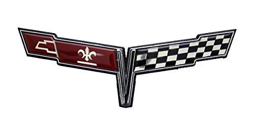 (Keen Parts 1980 Corvette Nose Emblem Crossed)