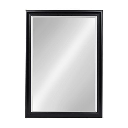 Kate and Laurel Dalat Framed Beveled Wall Mirror, 28x40, Black (Large Mirror Black)