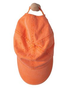 - Anvil Womens Solid Low-Profile Sandwich Trim Twill Cap (166) -TANGERINE -One