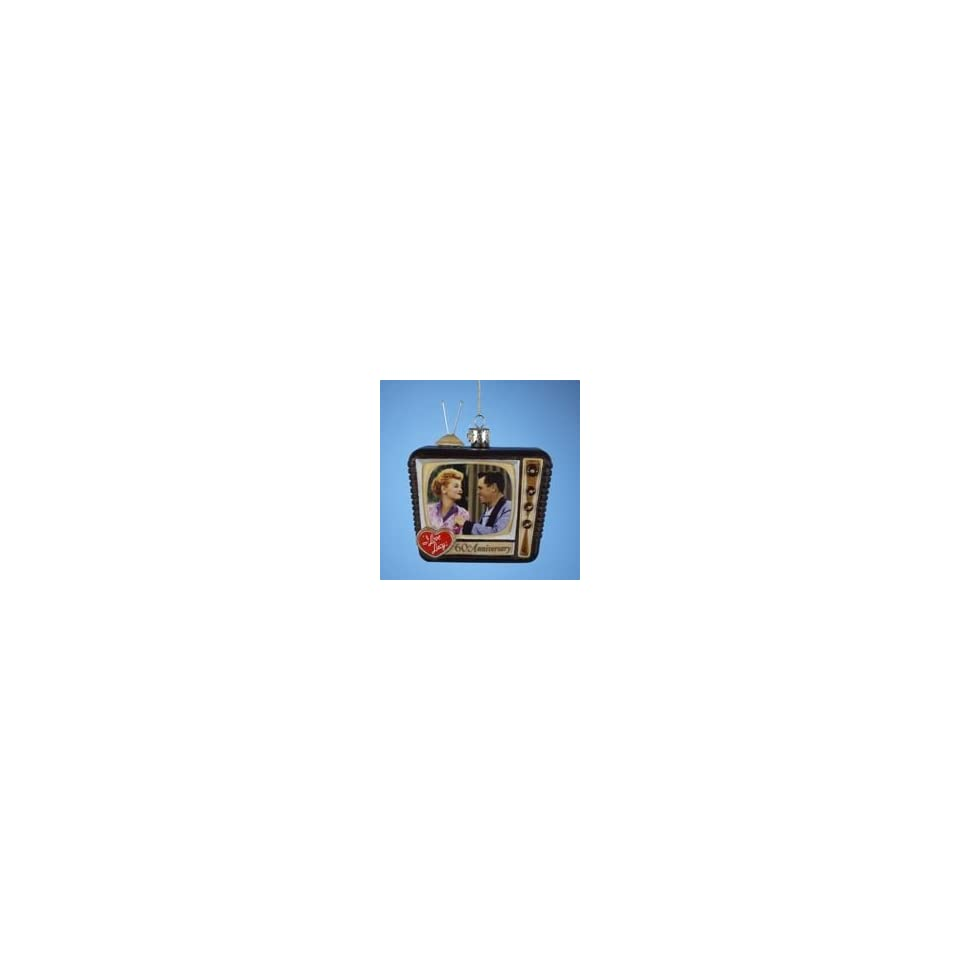 I LOVE LUCY Lucille Ball TV Set Glass Ornament 60th Ann
