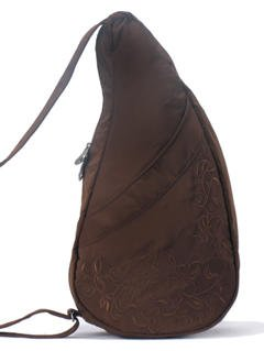 ameribag-inc-contemporary-i-love-my-life-healthy-back-bag-small-chocolate-microfiber