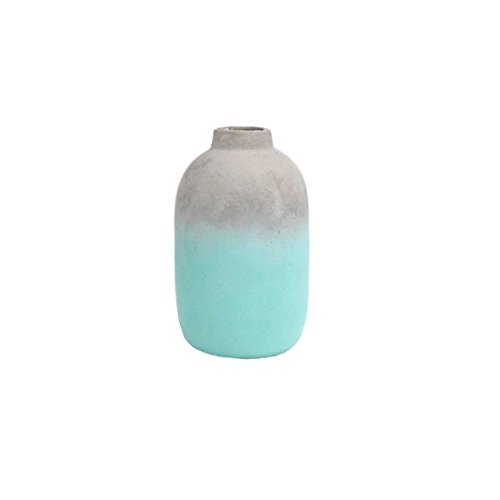 FLOOR | 9 Concrete Bud Vase, Teal Ombre Finish, Large