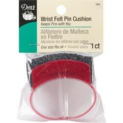 Dritz Bulk Buy Wrist Felt Pincushion 1 Size Fits All 703 (3 Pack) by Dritz