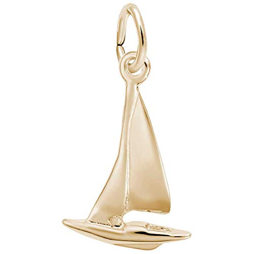 Sailboat Charm Gold Plated - Rembrandt Charms Sailboat Charm, Gold Plated Silver