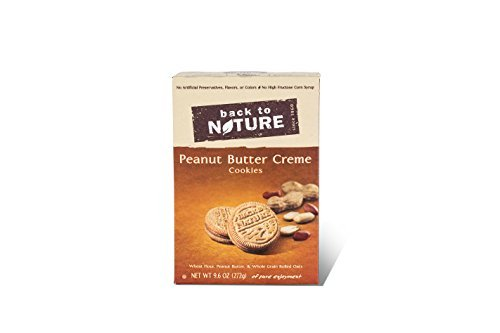Sandwich Creme Cookies Case (Back To Nature Peanut Butter Creme Sandwich Cookies, 9.6 Ounce -- 6 per case.)