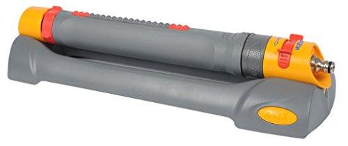 Hozelock Pro Aquastorm Rectangular Sprinkler for 200m², Grey/Yellow