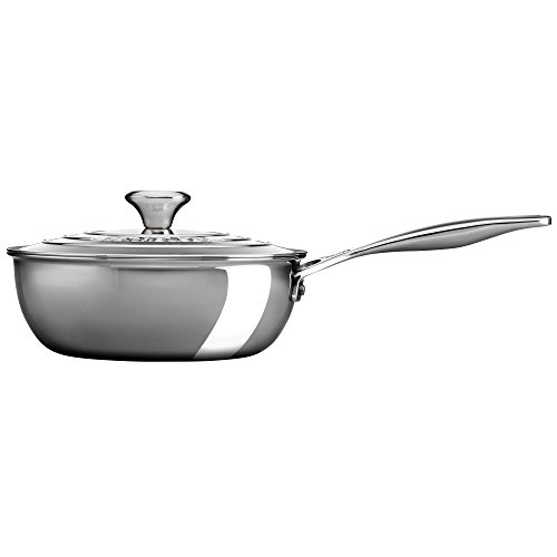 2-qt. Stainless Steel Saucier Pan with Lid