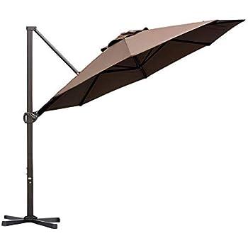 ec00bb98c0a4 Amazon.com : Belleze Patio Offset Cantilever Umbrella 10-Feet ...