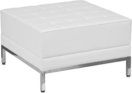 StarSun Depot Hercules Imagination Series Melrose White Leather Ottoman 28