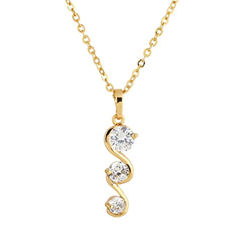 Best-selling YAZILIND 18K Gold Plated Cubic Zirconia Jewelry Pendant Bridal Necklace