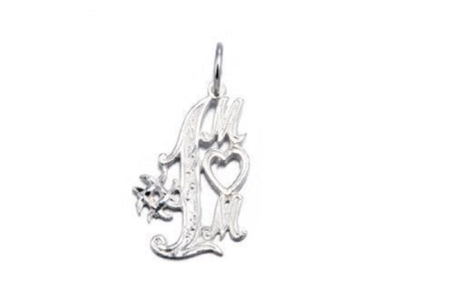 .925 Sterling Silver Number 1 Mom Charm