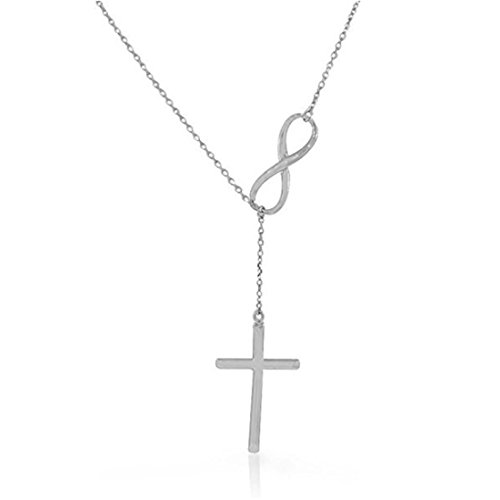 ULAKY Silver Wild Lucky Number 8 Cross Multi Elements Pendant Necklace