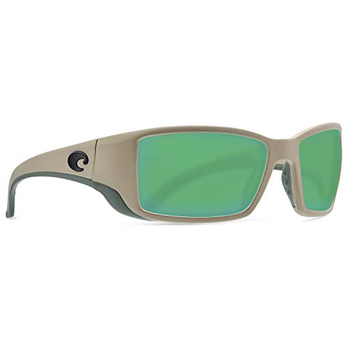 Costa Blackfin Plastic Frame Green Mirror Glass Lens Men's Sunglasses BL248OGMGLP