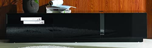 J and M Furniture TV Stand, Black