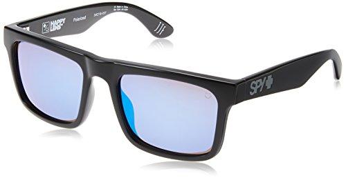 Spy Optic Atlas Polarized Wayfarer Sunglasses, Black/Happy Bronze Polar/Dark Blue Spectra, 1.5 - Helm Optic Spy