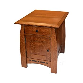 Exceptionnel Crafters And Weavers Mission Quarter Sawn Inlaid Oak End Tables Or Night  Stand