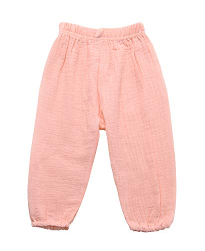 - Toddler Kids Cute Baby Boy Girl Casual Eelastic Harem Bloomers Cute Summer Pant (12-18 Months, Pink)