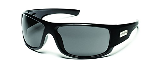 Pol Gray Sunglasses - Suncloud Impulse Polarized Sunglass, Black Frame/Gray Polar Lens
