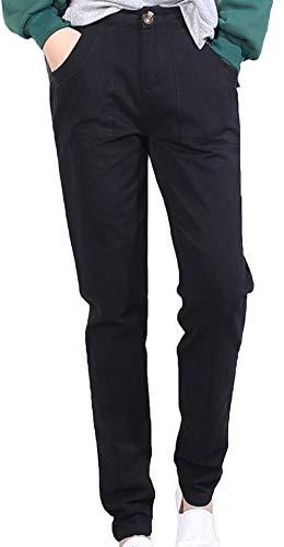 Skinny Snone In Nero Lunghi Sezione Slim Larghi Sottile Puro A Jeans Elegante Coreano Vita Matita Donna Stile Alta Con Leggings Cotone Pantaloni AwgxHSrqA