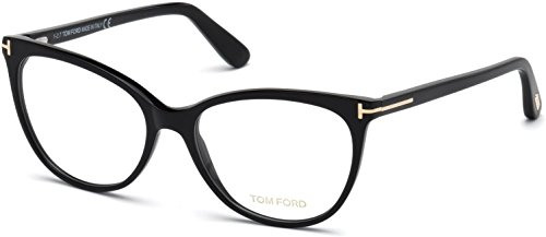 Eyeglasses Tom Ford FT 5513 001 Shiny Black, Rose Gold