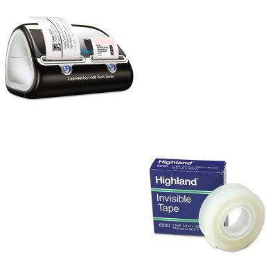 KITDYM1752266MMM6200341296 - Value Kit - Dymo LabelWriter Twin Turbo Printer (DYM1752266) and Highland Invisible