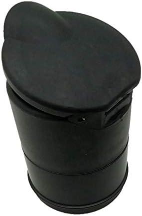 EUEMCH ポータブル車灰皿車インテリアホームフレームセットブラックドリー旅行タバコ灰ホルダーLEDランプ灰皿黒