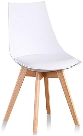 Designetsamaison Chaise scandinave Blanche Prague: Amazon