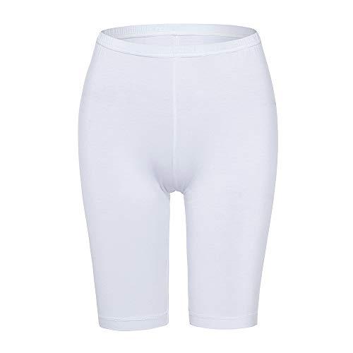 Slip Shorts for Women Short Leggings Mid Thigh Legging Plus Size Lace Undershorts White -